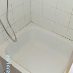 Nachher: Reinigung einer Dusche von Schmand, Dreck, Schimmel